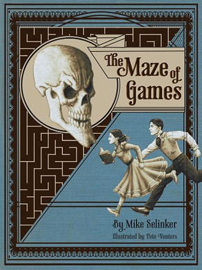 The Maze of Games front cover, copyright Lone Shark Games